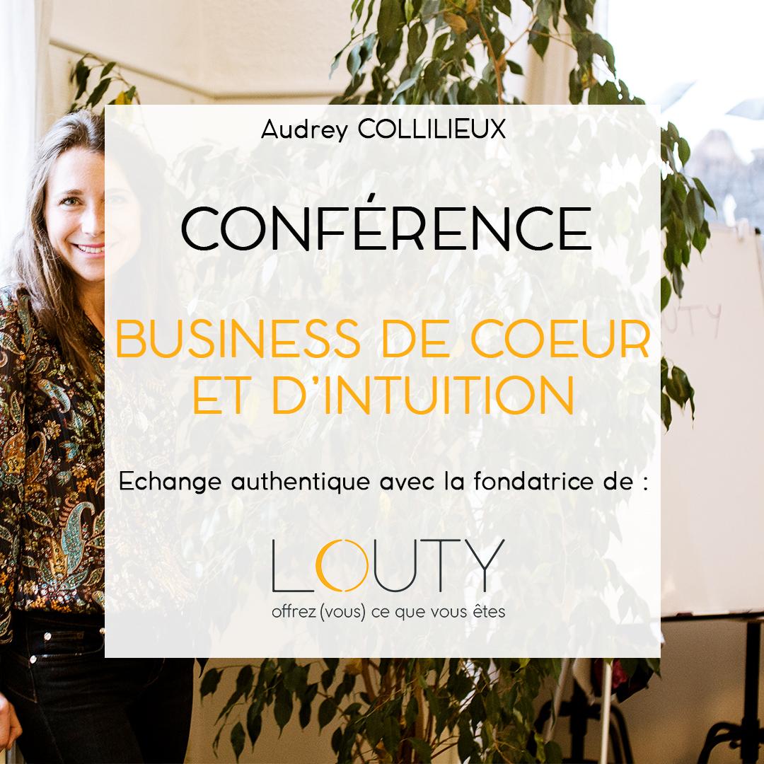 Audrey Collilieux conférence Business de coeur et d'intuition