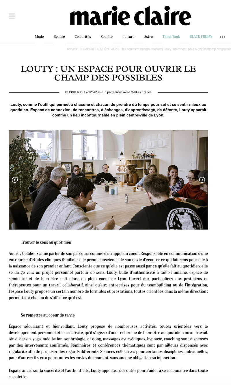Article presse louty marie-claire